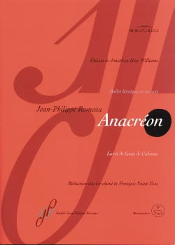 Jean-Philippe Rameau - Anacreon - Sheet Music - di-arezzo.com