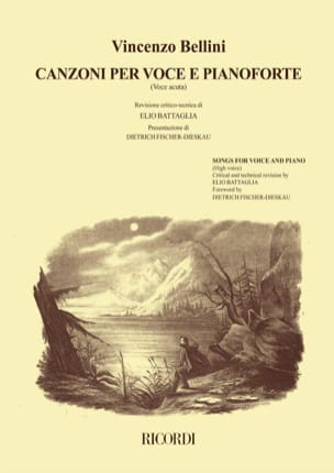 Vincenzo Bellini - Canzoni Per Voce and Pianoforte Voice High Volume 1 - Sheet Music - di-arezzo.com