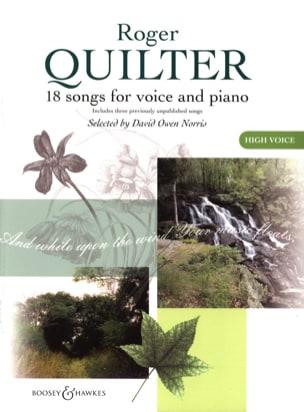 18 Songs. Voix Haute - Roger Quilter - Partition - laflutedepan.com