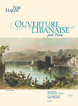 Ouverture Libanaise. Piano - Naji Hakim - Partition - laflutedepan.com