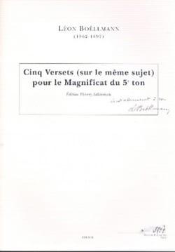 5 Versets Pour le Magnificat Du 5ème Ton Léon Boëllmann laflutedepan