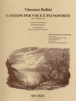 Vincenzo Bellini - Canzoni Per Voce E Pianoforte. Mean Voice - Sheet Music - di-arezzo.co.uk