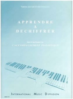 Apprendre à déchiffrer Jacquet-Betmalle Partition Piano - laflutedepan