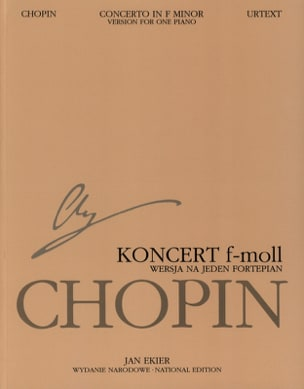 CHOPIN - Piano Concerto No. 2 in F minor Op. 21 Soloist Part - Sheet Music - di-arezzo.co.uk