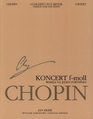 CHOPIN - Piano Concerto No. 2 in F minor Op. 21 Soloist Part - Sheet Music - di-arezzo.com