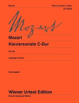 MOZART - Sonate pour piano Ut Majeur Kv 545 - Partition - di-arezzo.fr