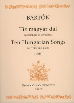 10 Hungarian Songs - BARTOK - Partition - Mélodies - laflutedepan.com