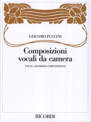 Composizioni Vocali Da Camera PUCCINI Partition laflutedepan