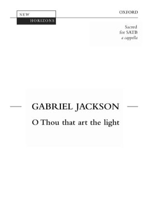 O Thou That Art The Light - Jackson - Partition - laflutedepan.com