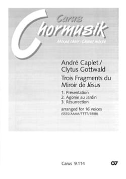 André Caplet - 3 Fragments Of The Mirror Of Jesus - Sheet Music - di-arezzo.co.uk