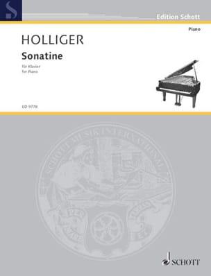 Heinz Holliger - Sonatine - Partition - di-arezzo.fr