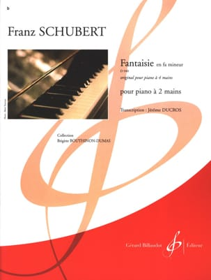 SCHUBERT - Fantasy In F Minor D 940 Opus 103 2 Hands - Sheet Music - di-arezzo.co.uk