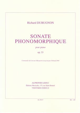 Sonate Phonomorphique Op. 33 - Richard Dubugnon - laflutedepan.com