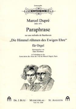 Paraphrase sur 1 Mélodie de Beethoven DUPRÉ Partition laflutedepan