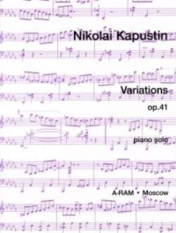Variations Opus 41 Nikolai Kapustin Partition Piano - laflutedepan