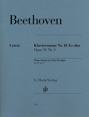 BEETHOVEN - Sonata For Piano No. 18 In E Flat Major Opus 31 No. 3 - Sheet Music - di-arezzo.com