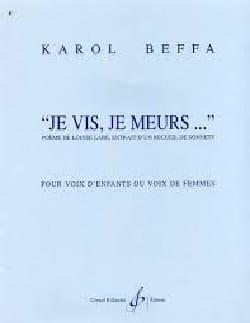 Karol Beffa - Je Vis, je Meurs - Partition - di-arezzo.fr