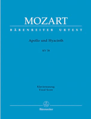 MOZART - Apollo Und Hyacinth K 38 - Sheet Music - di-arezzo.com