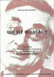 Gilles Maugenest - Que Dit Queneau ? - Partition - di-arezzo.fr