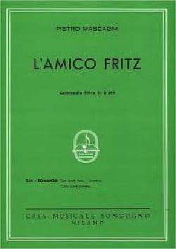 Pietro Mascagni - Su Pochi Fiori. El Amico Fritz - Partitura - di-arezzo.es