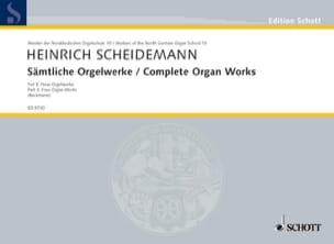 Heinrich Scheidemann - Sämtliche Orgelwerke Volume 3 - Partition - di-arezzo.fr