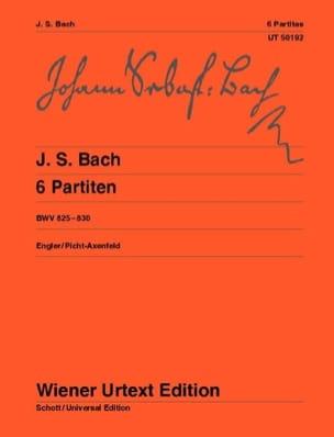 BACH - 6 Partitas BWV 825-830 - Sheet Music - di-arezzo.co.uk