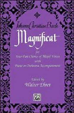 Johann Christian Bach - Magnificat - Partition - di-arezzo.fr