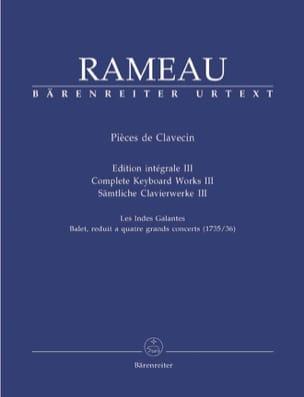 Jean-Philippe Rameau - Pièces de Clavecin Volume 3 - Partition - di-arezzo.fr
