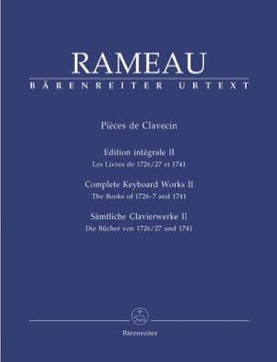 Jean-Philippe Rameau - Harpsichord Parts Volume 2 - Sheet Music - di-arezzo.com