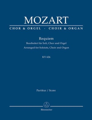 MOZART - Requiem K 626 - Partition - di-arezzo.fr