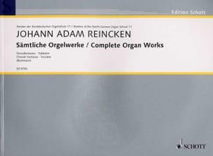 Johann Adam Reincken - Sämtliche Orgelwerke - Partition - di-arezzo.fr