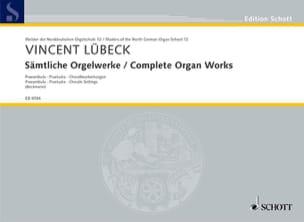 Vincent Sr et Jr Lübeck - Sämtliche Orgelwerke - Partition - di-arezzo.fr
