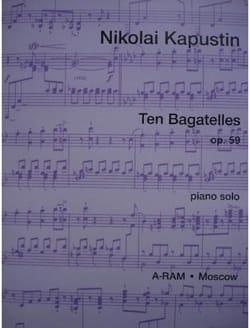 Nikolai Kapustin - 10 Bagatelles Op. 59 - Partition - di-arezzo.fr