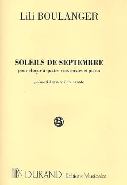 Lili Boulanger - Suns of September - Sheet Music - di-arezzo.com