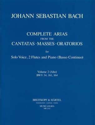 Jean-Sébastien Bach - Complete Arias For Alto, 2 Flûtes et B. C. Volume 2 - Partition - di-arezzo.fr