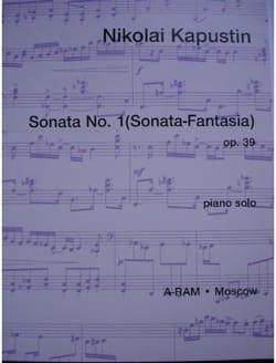 Sonate pour piano n° 1 Op. 39 - Nikolai Kapustin - laflutedepan.com