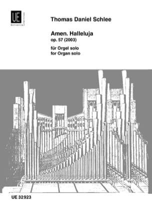Thomas Daniel Schlee - Amen. Halleluja Op. 57 - Partition - di-arezzo.fr