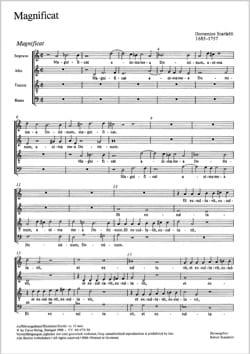 Magnificat Domenico Scarlatti Partition Chœur - laflutedepan