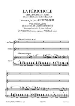 Jacques Offenbach - Le Conquérant Dit A la Jeune Indienne. la Périchole - Partition - di-arezzo.fr