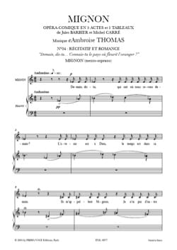 Ambroise Thomas - Do you know the country where the orange blossoms? Cute - Sheet Music - di-arezzo.co.uk