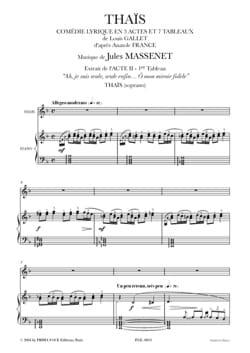 Jules Massenet - O my Faithful Mirror. Thais - Sheet Music - di-arezzo.com