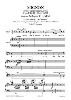 Ambroise Thomas - Je Suis Titania la Blonde. Mignon - Partition - di-arezzo.fr