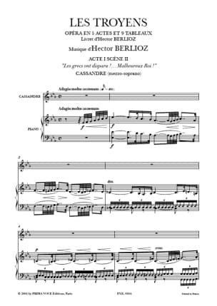 BERLIOZ - Unhappy King ... the Trojans - Sheet Music - di-arezzo.co.uk
