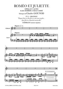 Charles Gounod - What do you do White Turtledove. Romeo and Juliet - Sheet Music - di-arezzo.co.uk