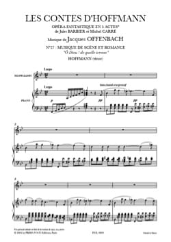 Jacques Offenbach - O God! of What Drunkenness. Hoffmann's Tales - Sheet Music - di-arezzo.com