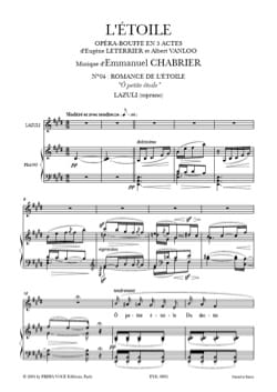 Emmanuel Chabrier - O Little Star. The star - Sheet Music - di-arezzo.co.uk