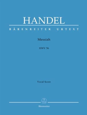 Messiah HWV 56 HAENDEL Partition Chœur - laflutedepan