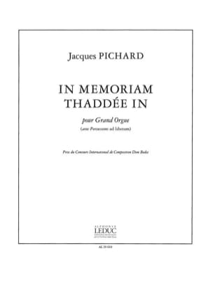 Jacques Pichard - In Memoriam Thaddée In - Partition - di-arezzo.fr