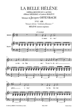 Jacques Offenbach - Divine loves, fiery flames. The beautiful Helen - Sheet Music - di-arezzo.com