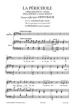 Jacques Offenbach - あなたは美しくない、あなたは金持ちではない。 LaPérichole - 楽譜 - di-arezzo.jp